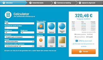 Gebruik de calculator en online bestelprocedure of vraag via telefoon of e-mail een prijsopgaaf aan voor het aanschaffen van bedrukte etiketten op rol op unieketiket.nl