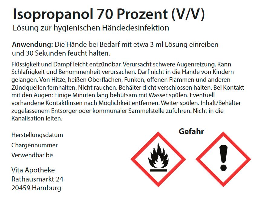 Etiketten für Handdesinfektionsmittel, Lösung zur hygienischen Händedesinfektion, Apotheken, Covid 19