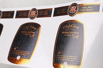 Whiskyetiket met hotfoil accenten van unieketiket